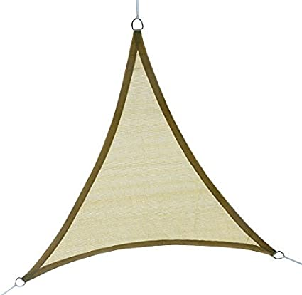 Outsunny 12ft Patio Lawn Shelter Sun Sail Shade Triangle w// Carrying Bag Sand