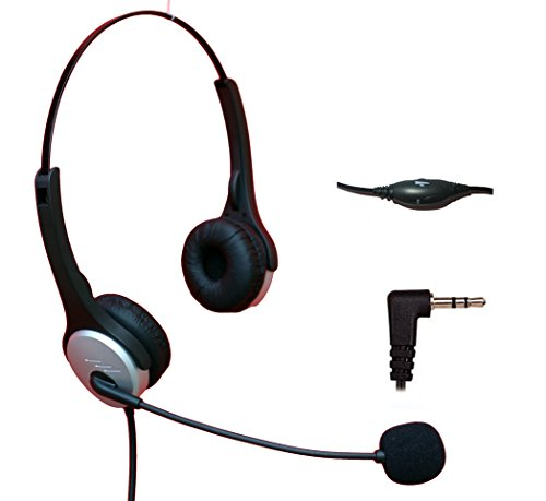 Voistek Corded Binaural Call Center Telephone Headset Noise Cancelling Headphone