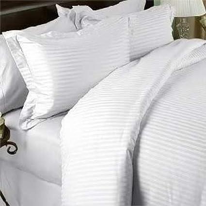 Amazon Com White Damask Stripe Two Piece King Size Long Pillow