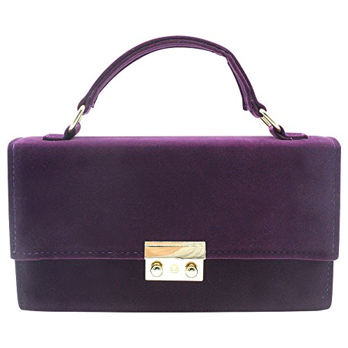 Case Formal Bag Clutch Wiwsi Handbag Hard Shoulder Women Evening Lady Red Purple Party Prom PxpRA0q