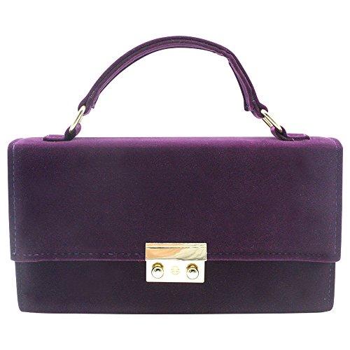Wiwsi Women/Lady Prom Party Evening Formal Hard Case Clutch Handbag Shoulder Bag(Purple) Purple