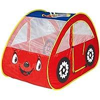 DIY Creations Red Play Tent Car Eyes Boy Girl Cubby Pop...