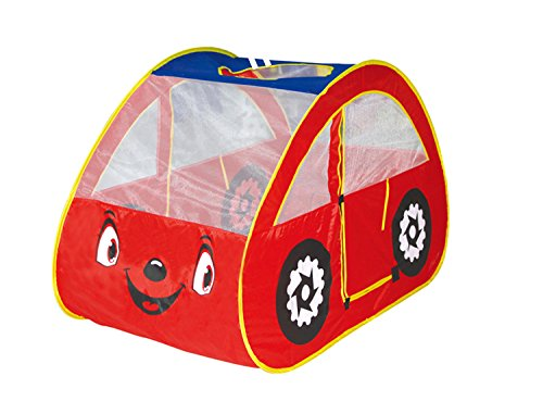 DIY Creationsレッド再生テント車目少年少女Cubby Pop Up Houseインドアアウトドアパーティー B074PCN4T8