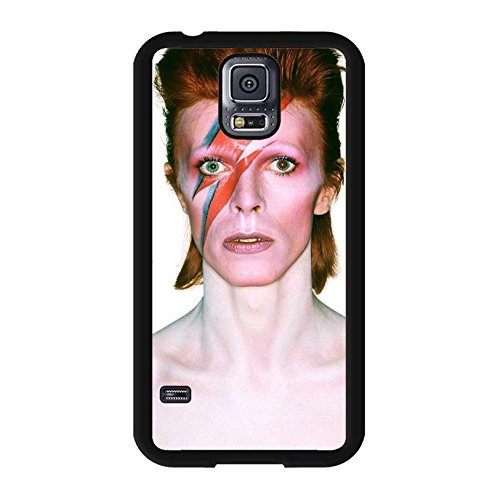Samsung Galaxy S5 I9600 Cover Shell Unique Individualized Style GlamRock style Musician David Bowie Phone hülle Handyhülle Cover Great Singer Perfect,Telefonkasten SchutzHülle
