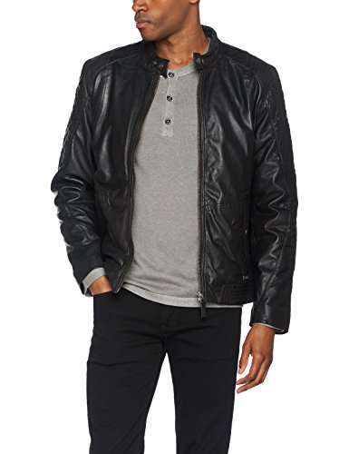 Mustang Jamieson Leather black Cappotto Nero Uomo 1000 rvS5rHxq