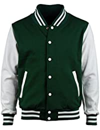Amazon.com: Green - Varsity Jackets / Lightweight Jackets ...