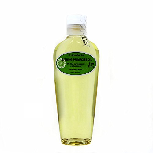 8 Oz Evening Primrose Carrier Oil Organic Pure Cold Pressed by Dr.Adorable (Benefits Of Evening Primrose Oil On Face)