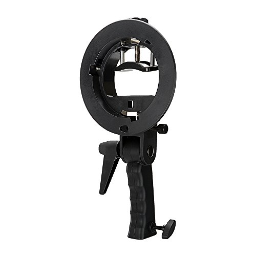 Fotodiox Pro Flash Bracket Holder with Handle for Speedlight Flash Guns and Bowen Mount Strobes - For Use with Reflectors, Softboxes, Snoots and Umbrellas by Fotodiox