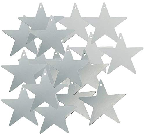 Fun Express Silver Star Cardboard 12 Inch Cutout - 24 Pieces ()
