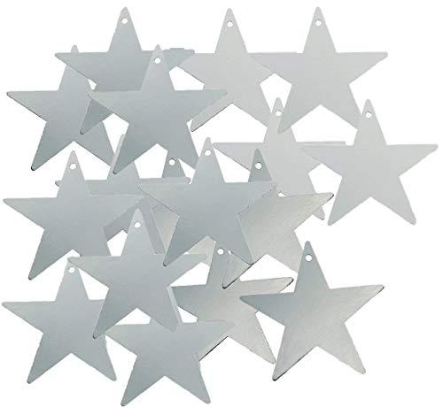 Fun Express Silver Star Cardboard 12 Inch Cutout - 24 Pieces