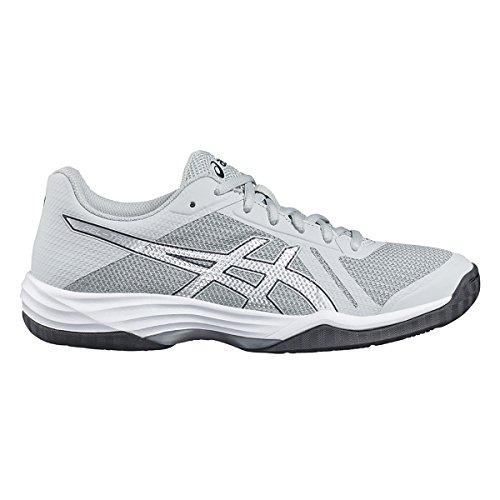 Asics Gel-Tactic, Zapatos de Voleibol para Mujer Gris (Glacier Grey/silver/dark Grey)