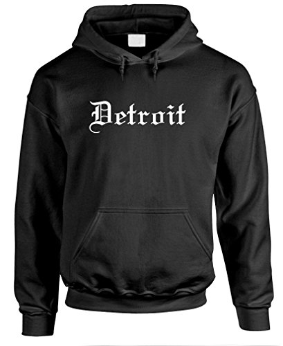 - The Goozler Detroit Gothic Font - Thug Rap Hip hop Music Pullover Hoodie, L, Black