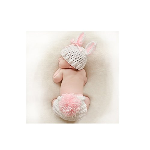 Fashion Cute Newborn Girl Baby Christmas Rabbit Bunny Outfits Photography Props  (Gift Christmas Photo Prop)