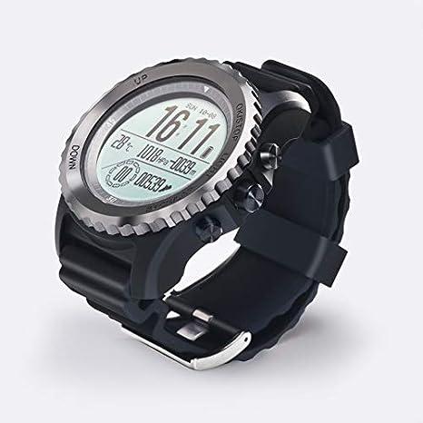 Ocamo S968 Reloj Inteligente Natación Banda Deportiva Reloj de Rastreo Deportivo Correr con Pasómetro Brújula GPS IP68 para iPhonne SE 7 8 Xiaomi Productos ...