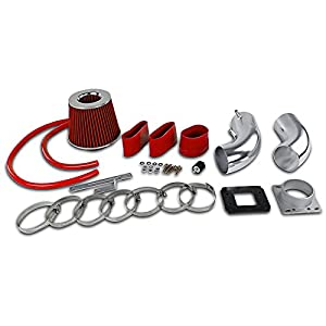 Spec-D Tuning AFC-4RUN88V6RD-AY Toyota 4Runner Pickup T100 3.0L V6 Cold Air Intake Red Filter Kit