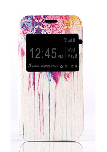 for Galaxy S5 Mini Case, view Windows Wind Chime Pattern Premium Pu Leather+ Painting /Flip / Stand / Protective Skin Cover Case for Samsung Galaxy S5 Mini G800F G800H
