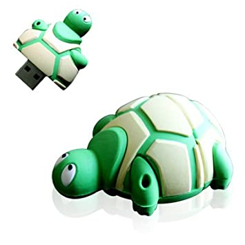 YooUSB - Memoria Flash USB (8 GB), diseño de tortuga, color verde ...