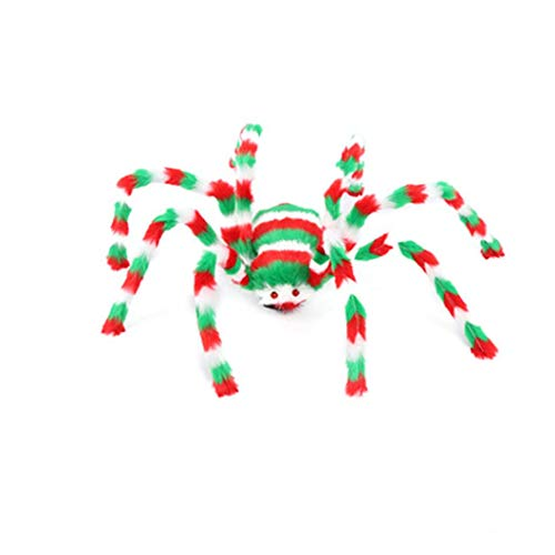 Gbell Colorful Spider Halloween Party Decoration Indoor Outdoor Scary, 1Pcs Haunted House Prop for Masquerades, Balls, Costume Parties, Mardi Gras and More,50CM/60CM/75CM/90CM Spider -