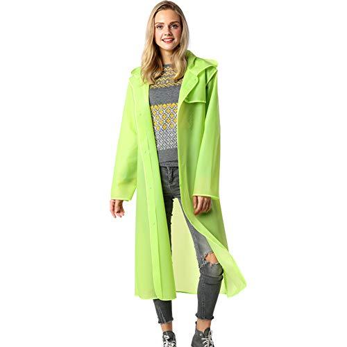 KARRESLY Unisex Adult Lightweight Raincoat Portable Rainwear Outdoor Travel Rain Coat Poncho with Hat Hood(Green1-S) ()