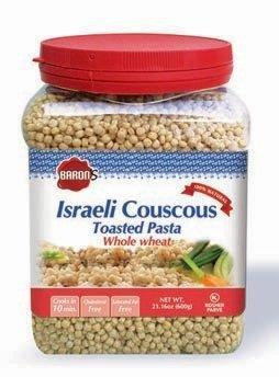 Baron's Kosher Whole Wheat Israeli Couscous Toasted Pasta 21.16-ounce Jars (Pack of 4) (Israeli Toasted Pasta)