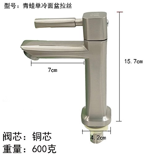 Frogs' Single Cold 60cm Steel Wire Tube Raw Material Belt JWLT Wash basin, washbasin, faucet, single cold, toilet, basin, drawing, single hole, 304 stainless steel faucet, 60 steel wire tube with single cold drawing of leaves