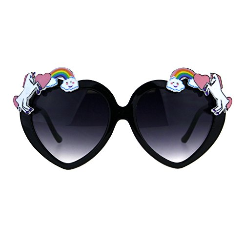 Womens Unicorn Rainbow Heart Funk Valentine Sunglasses - Funk Sunglasses