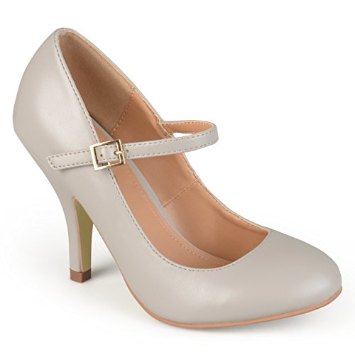 Brinley Co Womens Nelson 02 Dress Pump Regular E Larghe Taglie Grigio Liscio