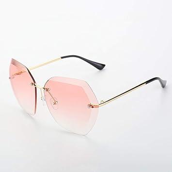 Grww ofd Gafas de Sol de Metal de Gran tamaño sin Montura ...