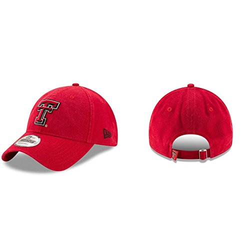 New Era Texas Tech Red Raiders Campus Classic Adjustable Hat - Red, One Size - Texas Tailgate Golf
