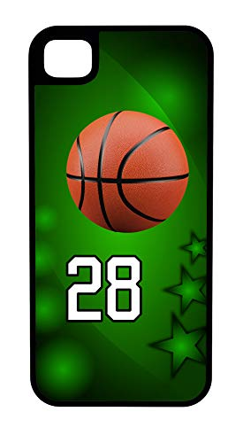 - iPhone 7 Case Basketball Crash The Boards Customizable Tough Case by TYD Designs in Black Plastic and Black Rubber with Team Number 28