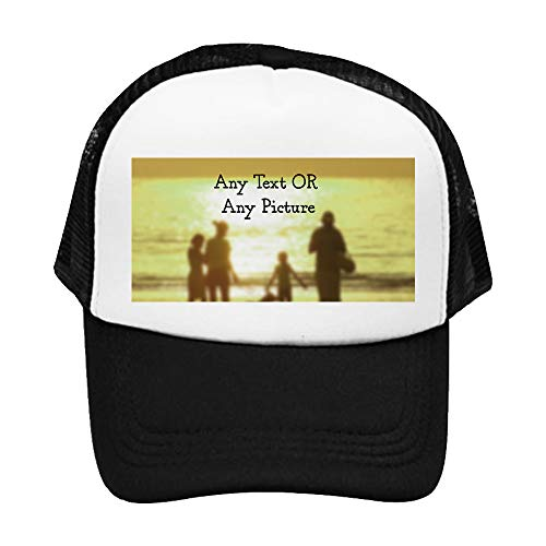 Personalised with Your Own Text/Image/Any Name Themed Boys-Girls Adjustable Mesh Baseball Cap Kids Trucker hat Unisex…