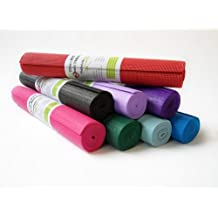 """Kid's Sticky Yoga Mat 3/16"""" x 60"""" Thick 8 Colors SGS Approved Non-Toxic No Phthalates or Latex by Bean Products TM, Purple"""