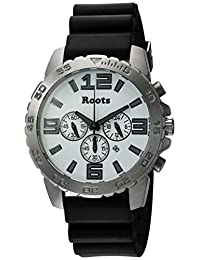 Roots Men's 'Core' Quartz Stainless Steel and Rubber Casual Watch, Color:Black (Model: 1R-LF604WH4B)