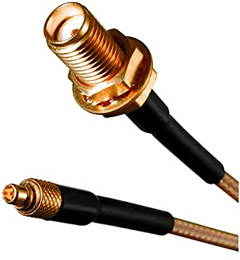 415-0071-024 - RF/Coaxial Cable Assembly, MMCX Straight Plug, SMA Bulkhead Jack, RG316, 50 ohm, 2 ft, 610 mm: Amazon.com: Industrial & Scientific
