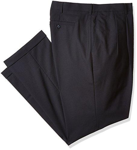 Louis Raphael Men's Big-Tall Luxe 100% Wool Extension Dress Pant, Navy, 52W X ()