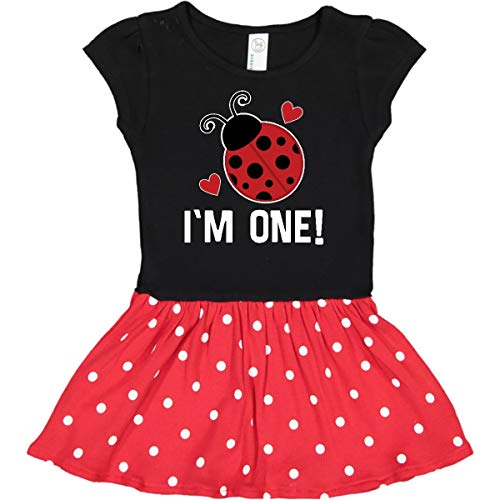 inktastic - First Infant Dress 12 Months Black & Red with Polka Dots 33747