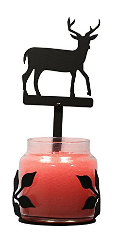 Iron Deer Large Jar Sconce - Heavy Duty Metal Candle Holder