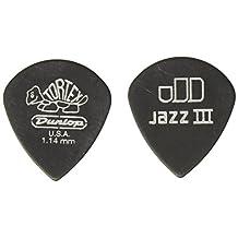Dunlop 482P1.14 Tortex Pitch Black Jazz III, 1.14mm, 12/Player's Pack