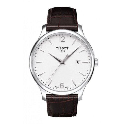 Tissot Men's T063.610.16.037.00 Tradition Silver-Tone Stainless Steel Watch