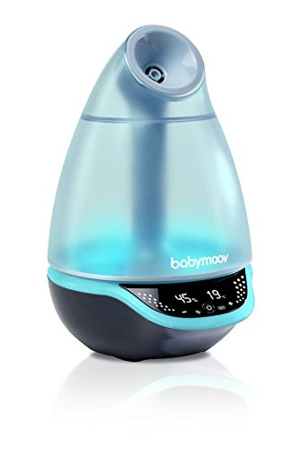 Babymoov Hygro Plus Cool Mist Humidifier with Programmable Humidity Control, Timer, Night Light, and Essential Oil Diffuser A047011