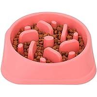WASAGA - tazón de alimentación lenta para perros, tazón antideslizante – Antiestrangulamiento para mascotas, platos de…