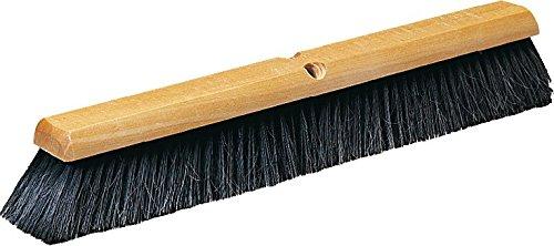Carlisle 4503103 Flo-Pac Fine Floor Sweep, Blended Horsehair Bristles, 24'' Block Width, 3'' Bristle Trim, Black (Case of 12)