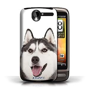 KOBALT? Protective Hard Back Phone Case / Cover for HTC Desire G7   Husky Design   Dog Breeds Collection