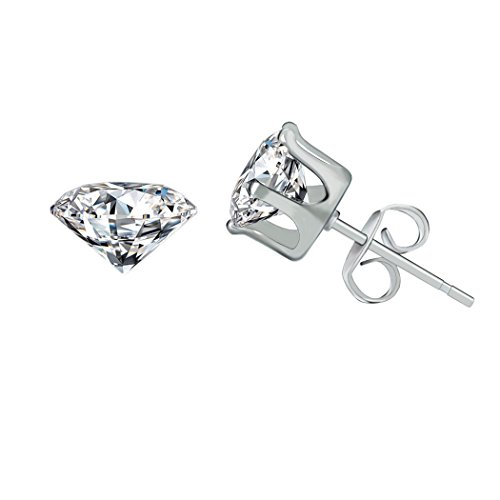 HOVEOX-6-Pairs-Alloy-Womens-Stud-Earrings-Round-Clear-Cubic-Zirconia-Inlaid-Simulated-Diamond-Rhinestone-Hypoallergenic-Pierced-Jewelry-CZ-Studs-01-inch-03-inch-for-Unisex-Teens-and-Women-Silver