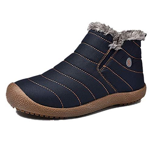Bottes Hiver Bleu Cheville Tqgold Imperméable Boots Chaudes Neige Homme Antidérapage De Chaussures Femme 4E6xg