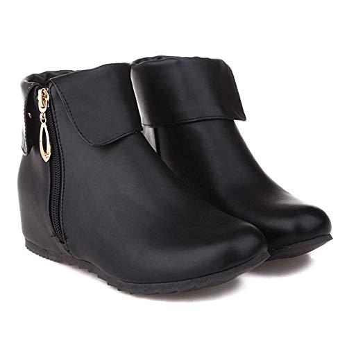 Heel CularAcci Boots Black Hidden Women Ankle OEnWEpP