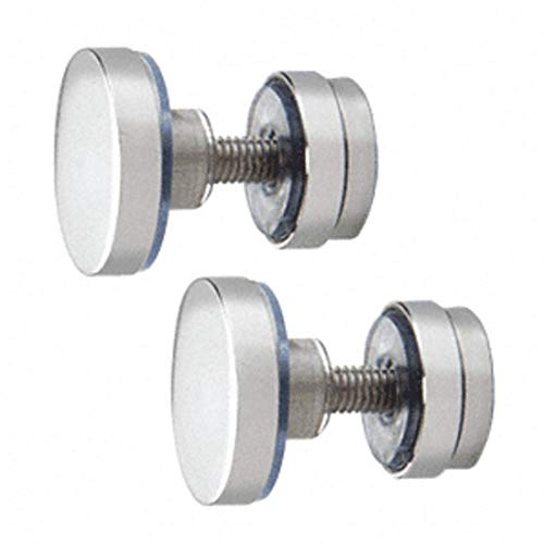 (Polished Stainless Track Holder Fittings for Fixed Panel - 2/Pk)