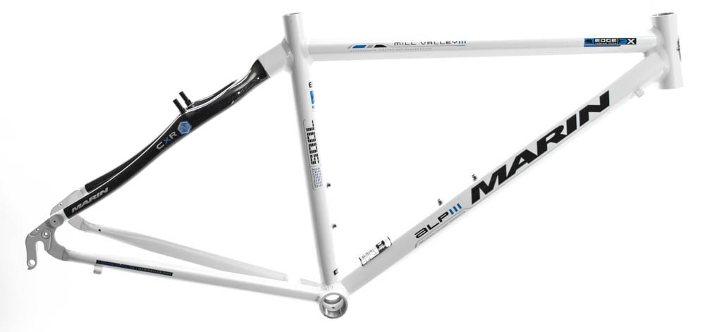 15.5'' MARIN MILL VALLEY ALP Hybrid Bike Frame Alloy/Carbon White 700c NOS NEW by Marin (Image #1)