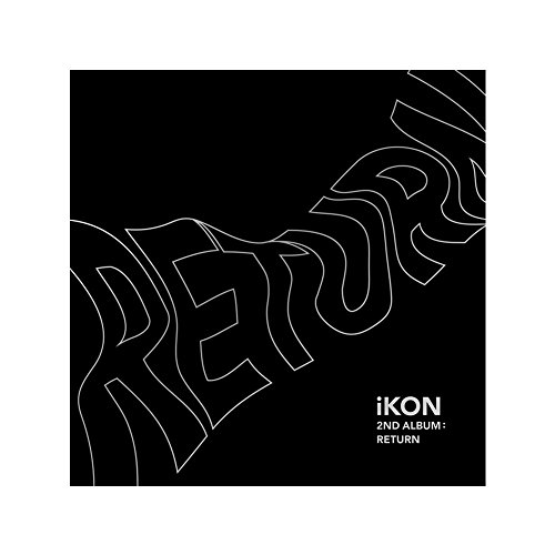 Music Group Album (YG Entertainment Idol Goods Fan Products YGeShop iKON 2nd Album: Return CD + PHOTOBOOK + Lyric Book + 8 Postcards + Photocard + Selfie Photocard + Photo Film + Sticker + Poster BLACK Ver.)