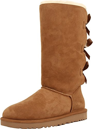 UGG Women's Bailey Bow Tall, Chestnut, 6 B - Medium ()